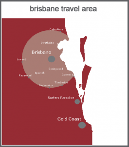 Brisbane area of use map