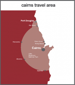 Cairns area of use map