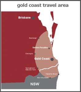 Gold Coast area of use map