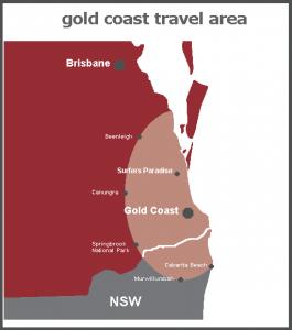 Gold Coast area of use map